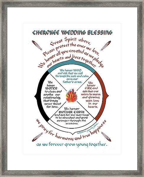 Cherokee Wedding Blessing Framed Print