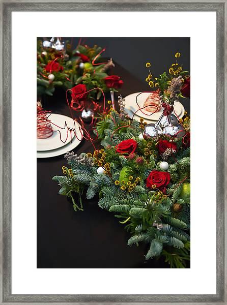 Christmas Table Framed Print