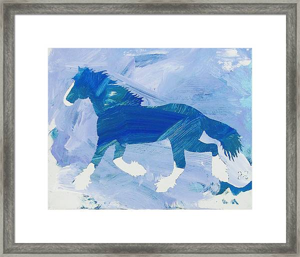 Framed Print featuring the painting Clydesdale Dreams by Candace Shrope