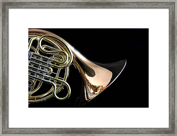 Color French Horn Framed Print
