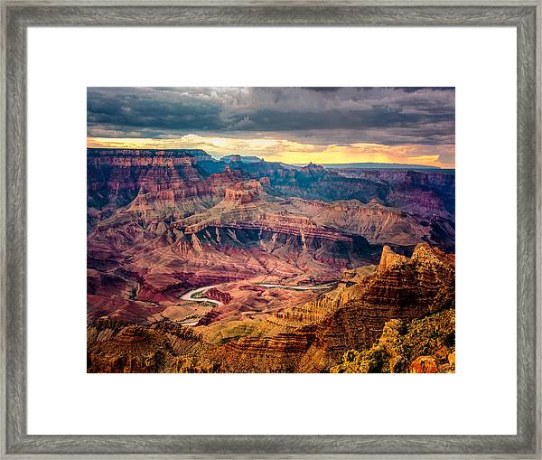 Framed Print featuring the photograph Colorado River Winding Thru Grand Canyon by Claudia Abbott