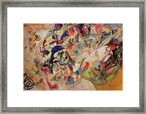 Composition Vii Framed Print by Wassily Kandinsky