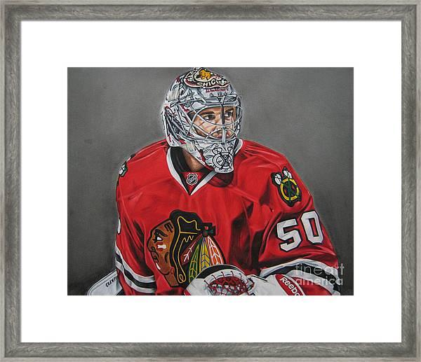 Corey Crawford Framed Print
