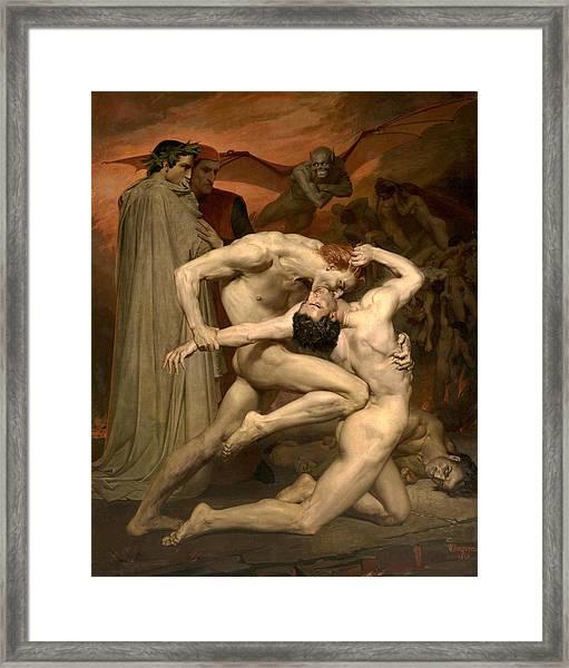 Dante And Virgil In Hell  Framed Print