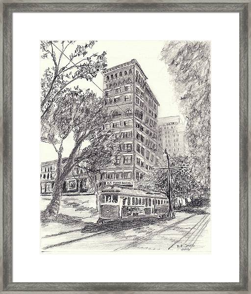 Downtown Memphis Framed Print