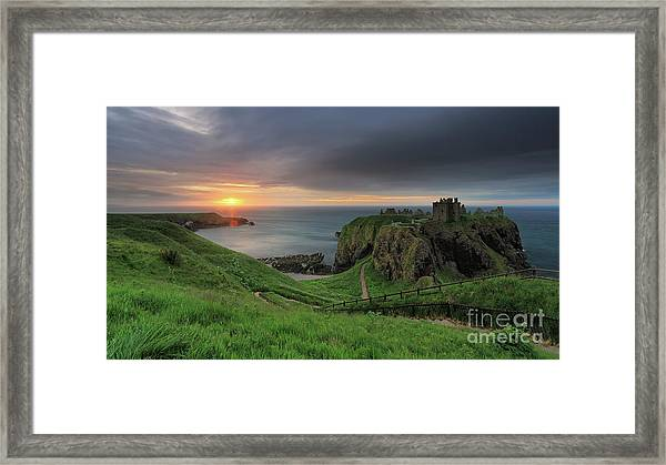 Dunnottar Castle At Sunrise Framed Print