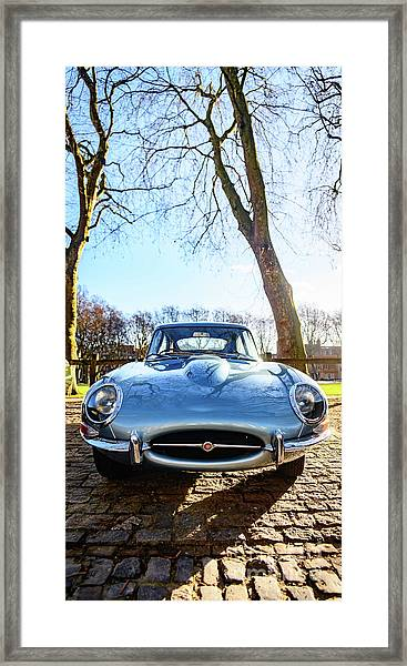 E Type Jaguar Framed Print