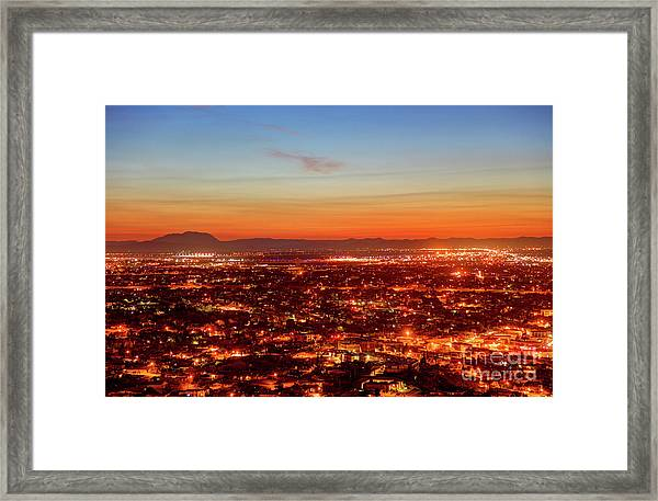 El Paso, Texas Framed Print by Denis Tangney Jr