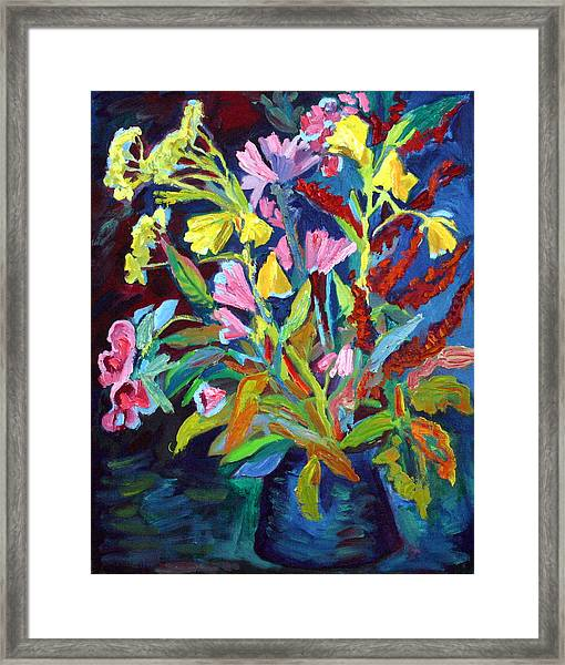 Evening Flowers Framed Print by Katia Weyher