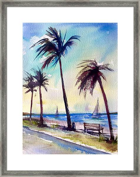 Framed Print featuring the painting Evening Solitude by Katerina Kovatcheva