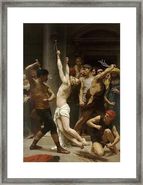 Flagellation Of Christ Framed Print