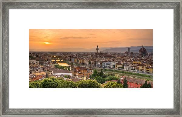 Florence Sunset Framed Print