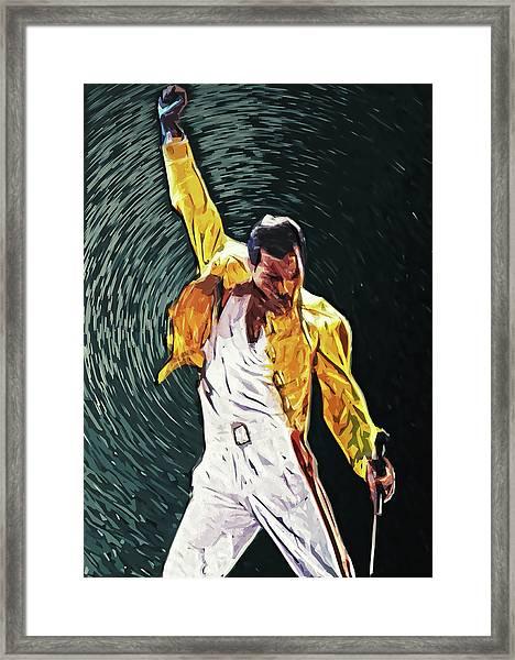 Freddie Mercury Framed Print
