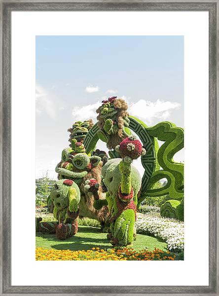 From Shanghai Joyful Celebration Of The Nine Lions 8 Framed Print