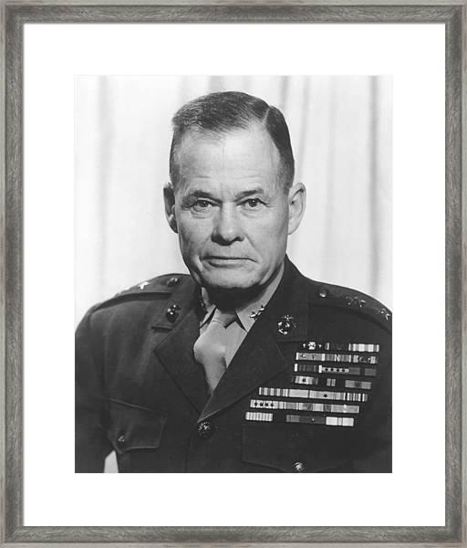 General Lewis Chesty Puller Framed Print