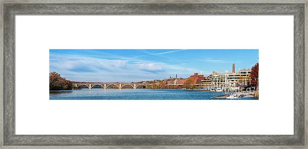 Georgetown Waterfront Early On A Fall Morning Cm4 Framed Print