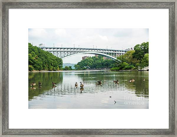 Henry Hudson Bridge Framed Print