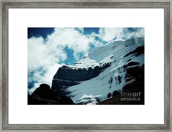 Holy Kailas Fragment Himalayas Tibet Yantra.lv Framed Print