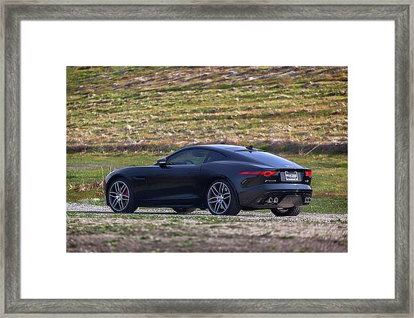 #jaguar #f-type #print Framed Print
