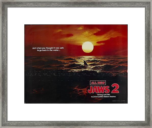 Jaws 2 1978  Framed Print