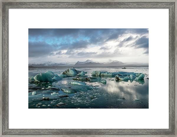 Jokulsarlon, The Glacier Lagoon, Iceland 3 Framed Print