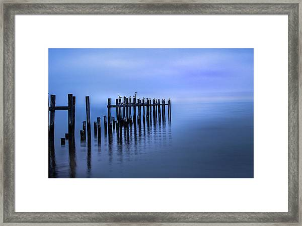 Colorful Overcast At Twilight Framed Print