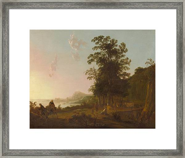 Landscape With The Flight Into Egypt Framed Print