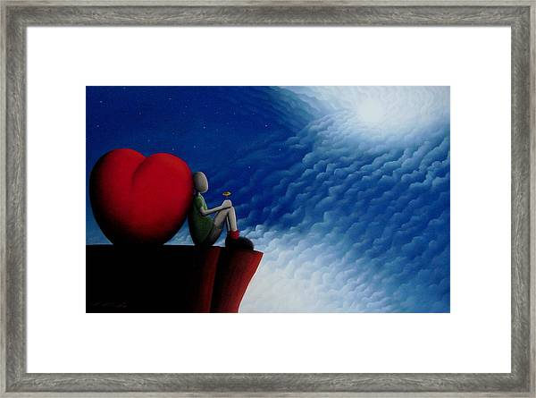 Lean On Love Framed Print