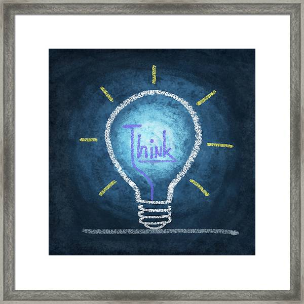 Light Bulb Design Framed Print
