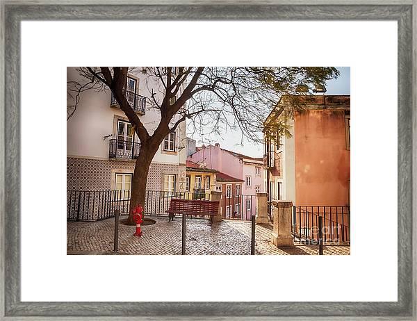 Lisbon's City Street Framed Print