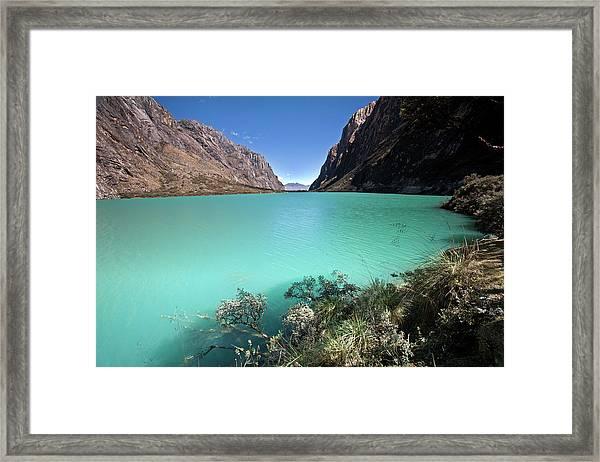 Llanganuco Lakes Framed Print