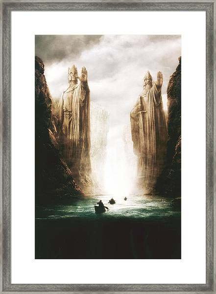 Lord Of The Rings The Fellowship Of The Ring 2001  Framed Print