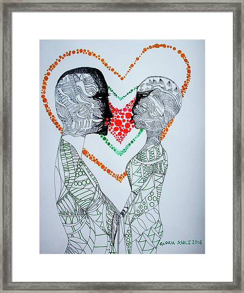 Love Is A Heart Framed Print
