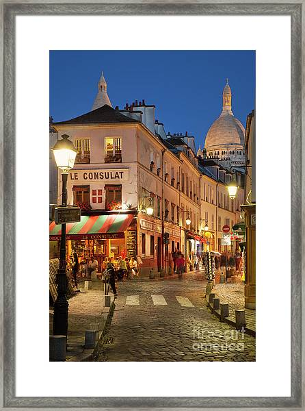 Framed Print featuring the photograph Montmartre Twilight by Brian Jannsen
