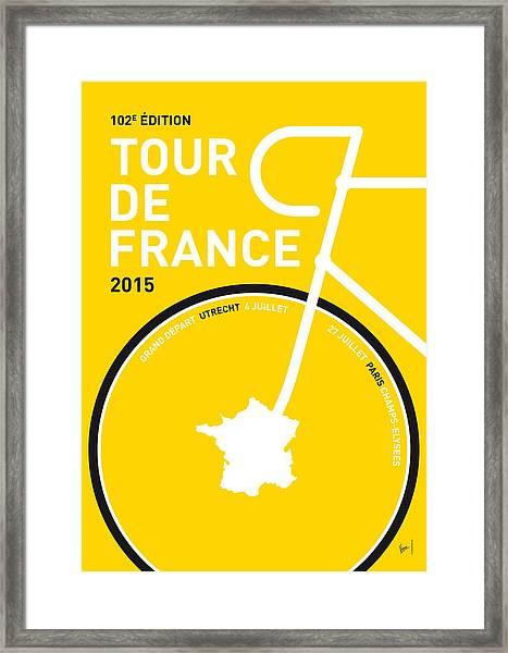 My Tour De France Minimal Poster Framed Print
