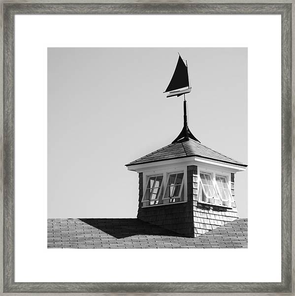 Nantucket Weather Vane Framed Print