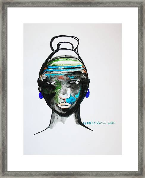 Nuer Bride - South Sudan Framed Print