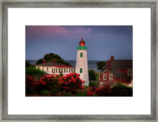 Framed Print featuring the photograph Old Point Comfort Lighthouse by Williams-Cairns Photography LLC