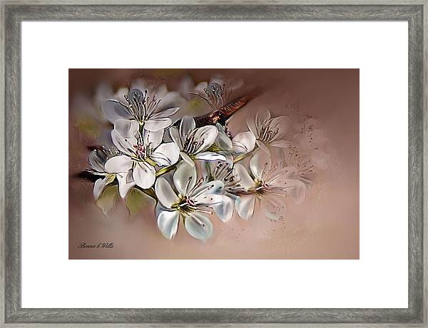 Oriental Pear Blossom Framed Print