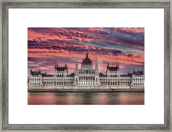 Pink Parliament Framed Print