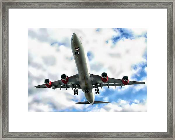 Passenger Plane Framed Print