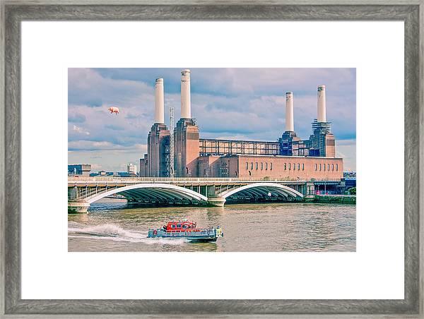 Pink Floyd's Pig At Battersea Framed Print