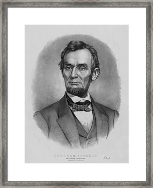 President Lincoln Framed Print