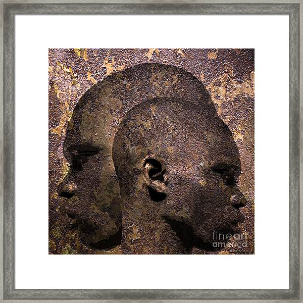 2 Profiles In One Framed Print
