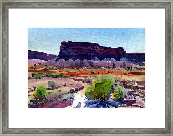 Purple Butte Framed Print by Donald Maier