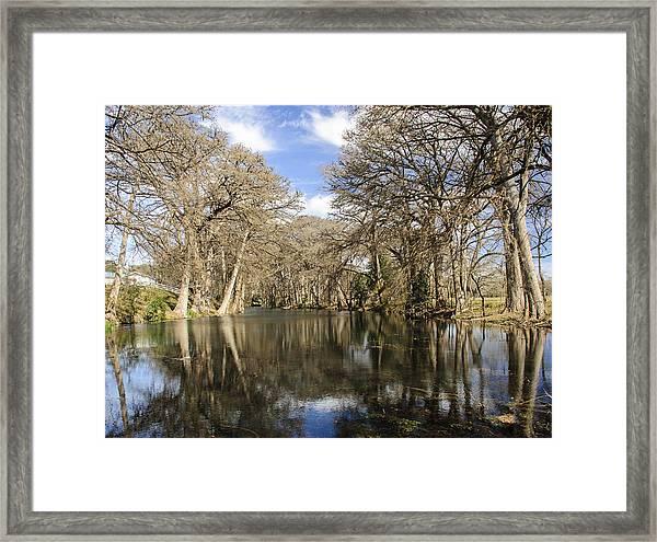 Rio Frio In Winter Framed Print