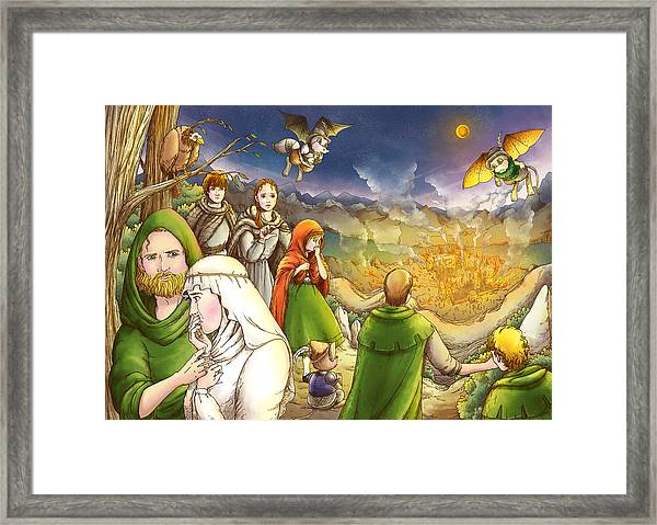 Robin Hood And Matilda Framed Print