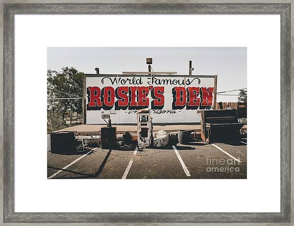 Rosies Den Cafe  Framed Print