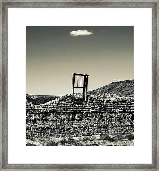 Sacred Window  Framed Print
