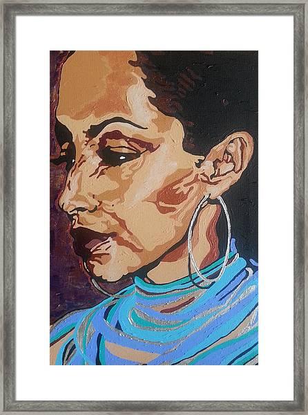 Sade Adu Framed Print